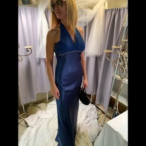 Blue formal gown size 4 made by jump apparel